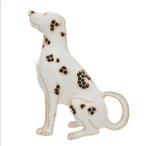 NWB Pet Friends White, Gold & Black Dalmatian Pin